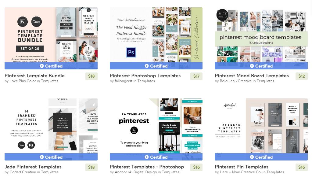 Creative Marketing Pinterest Templates